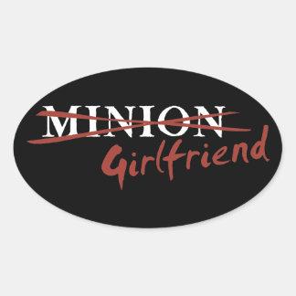 Minion Girlfriend Oval Sticker