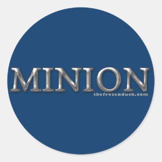 Minion Round Stickers