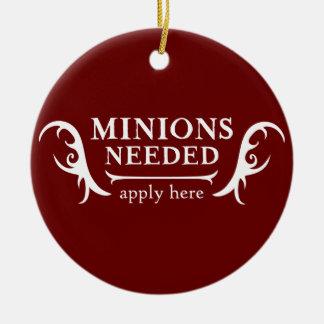 Minions Needed Round Ceramic Decoration