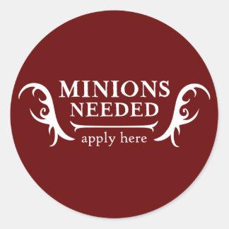 Minions Needed Round Sticker