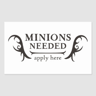 Minions Needed Rectangle Sticker