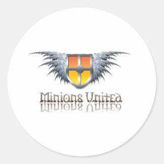 Minions United Classic Round Sticker