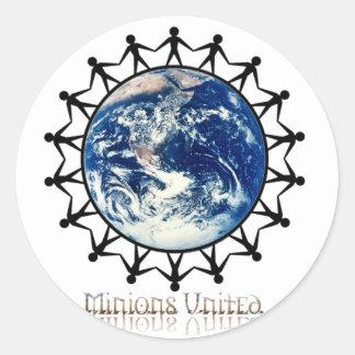 Minions United World Branded Range Classic Round Sticker