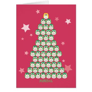 MiNiOwL X'mas Tree Greeting Cards