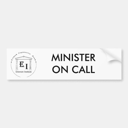 MINISTER ON CALL BUMPER STICKER
