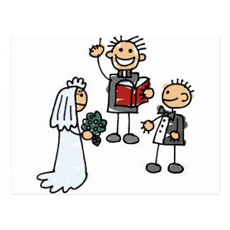 Minister Priest Reverend Performs Wedding Ceremony Postcard
