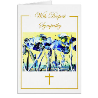 Ministering In Blue Greeting Card