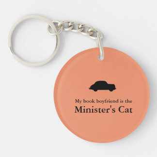 Minister's Cat Keychain-The Rank and File on back Key Ring