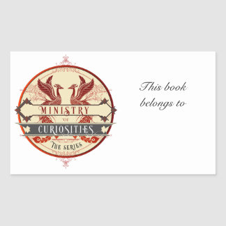 Ministry of Curiosities Bookplate Rectangular Sticker