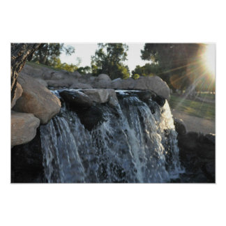Miniture Water Fall Poster