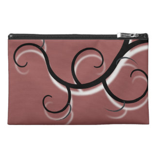 Mink Brown Creeping Vine Travel Accessory Bag