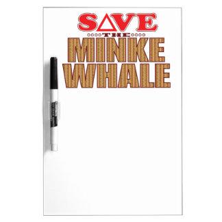 Minke Whale Save Dry Erase Board
