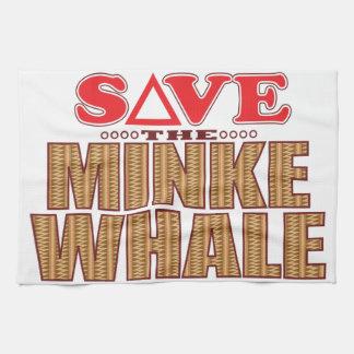 Minke Whale Save Tea Towel