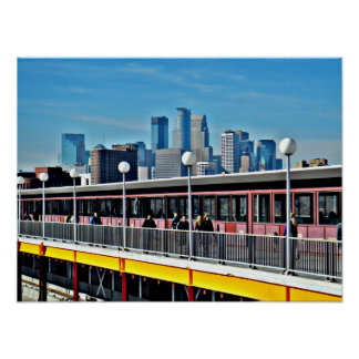 Minneapolis Cityscape 1 Poster