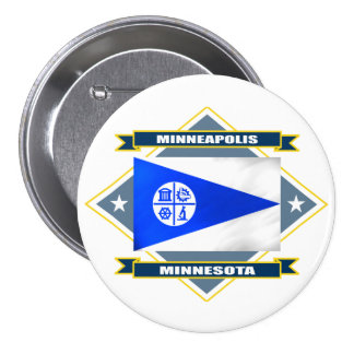 Minneapolis Diamond 7.5 Cm Round Badge