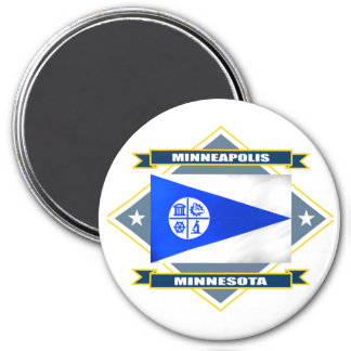 Minneapolis Diamond 7.5 Cm Round Magnet