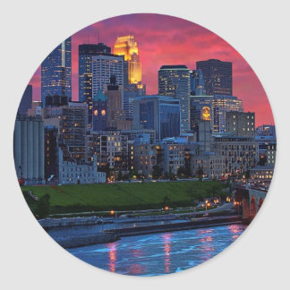 Minneapolis Eye Candy Classic Round Sticker