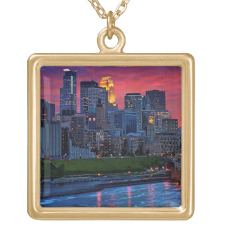Minneapolis Eye Candy Gold Plated Necklace