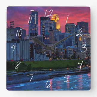 Minneapolis Eye Candy Square Wall Clock