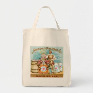 Minneapolis Flour Vintage Food Ad Art Canvas Bag