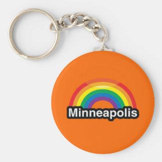 MINNEAPOLIS LGBT PRIDE RAINBOW KEYCHAIN