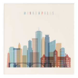 Minneapolis, Minnesota | City Skyline Acrylic Print