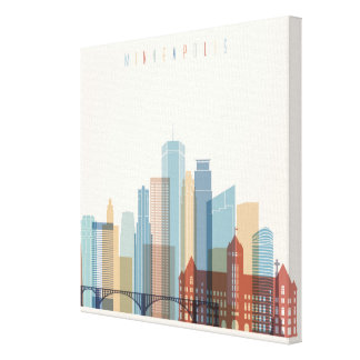Minneapolis, Minnesota | City Skyline Canvas Print