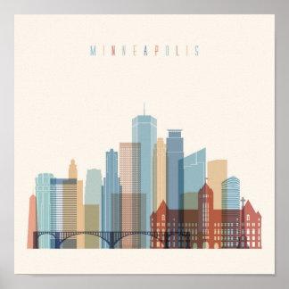 Minneapolis, Minnesota | City Skyline Poster
