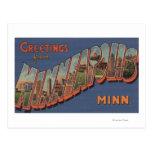Minneapolis, Minnesota - Large Letter Scenes Post Card