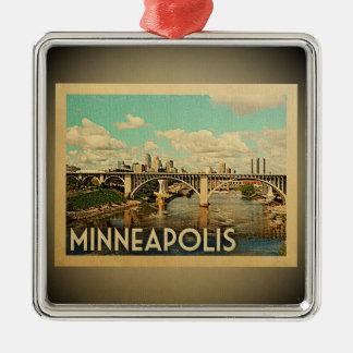 Minneapolis Minnesota Ornament Vintage Travel