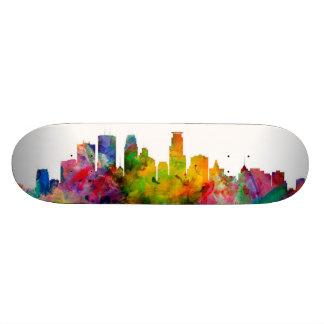 Minneapolis Minnesota Skyline Custom Skateboard
