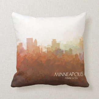 Minneapolis, Minnesota Skyline-In the Clouds Cushion