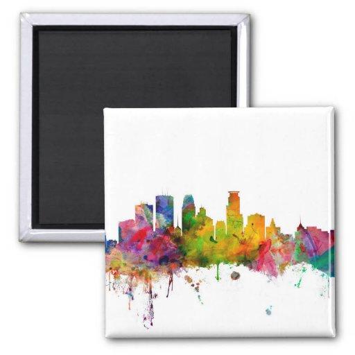 Minneapolis Minnesota Skyline Refrigerator Magnets