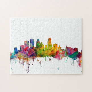 Minneapolis Minnesota Skyline Puzzle