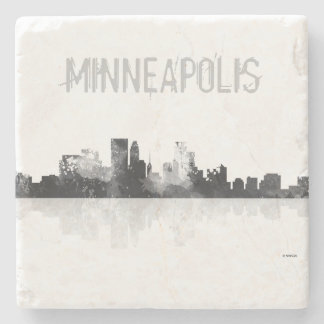 MINNEAPOLIS, MINNESOTA SKYLINE STONE COASTER