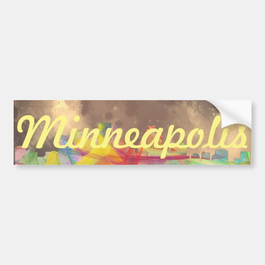 MINNEAPOLIS, MINNESOTA SKYLINE WB1 - BUMPER STICKER