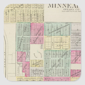 Minneapolis, Ottawa County, Kansas Square Sticker