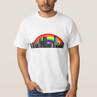 Minneapolis Rainbow Skyline T-Shirt