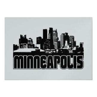 Minneapolis Skyline 13 Cm X 18 Cm Invitation Card