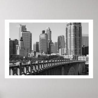 Minneapolis Skyline In Daylight Poster