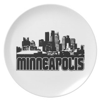 Minneapolis Skyline Plate