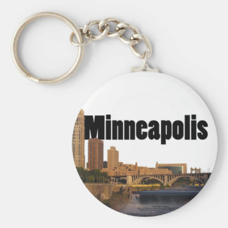 Minneapolis Skyline with Minneapolis in the Sky Key Ring