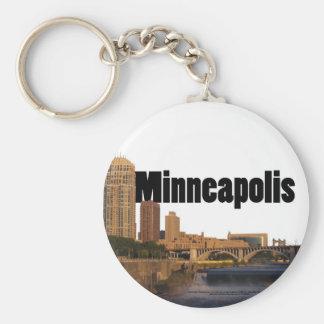 Minneapolis Skyline with Minneapolis in the Sky Key Ring