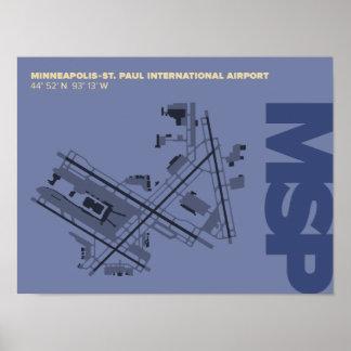 Minneapolis-St. Paul Airport (MSP) Diagram Poster