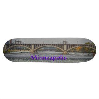 Minneapolis stone bridge skateboard