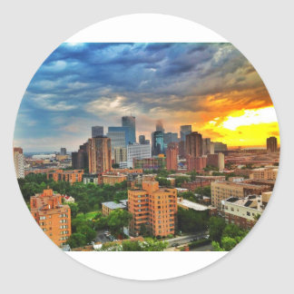 Minneapolis Storm Classic Round Sticker