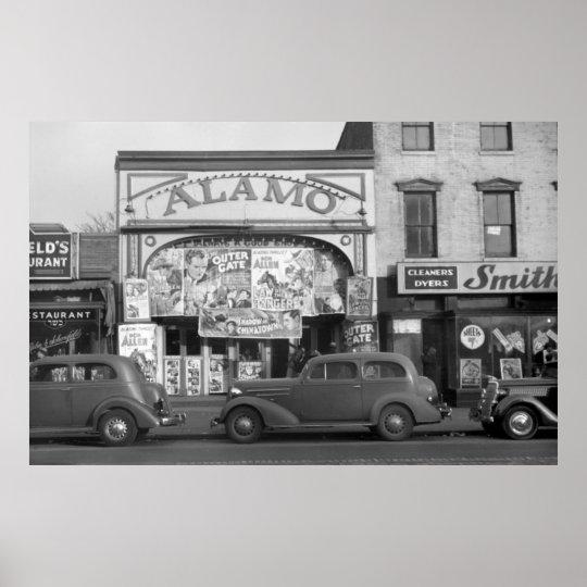 Minneapolis Streeet Scene, 1930s Poster