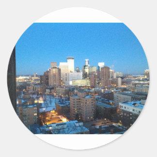 Minneapolis Winter Classic Round Sticker
