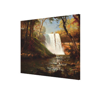 Minnehaha Falls, an Albert Bierstadt artwork Canvas Print