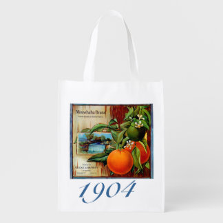 Minnehaha Oranges Produce Crate Label -Grocery Bag